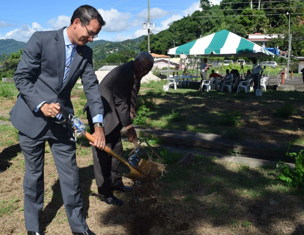 Sod turned for two major water projects in Grenada
