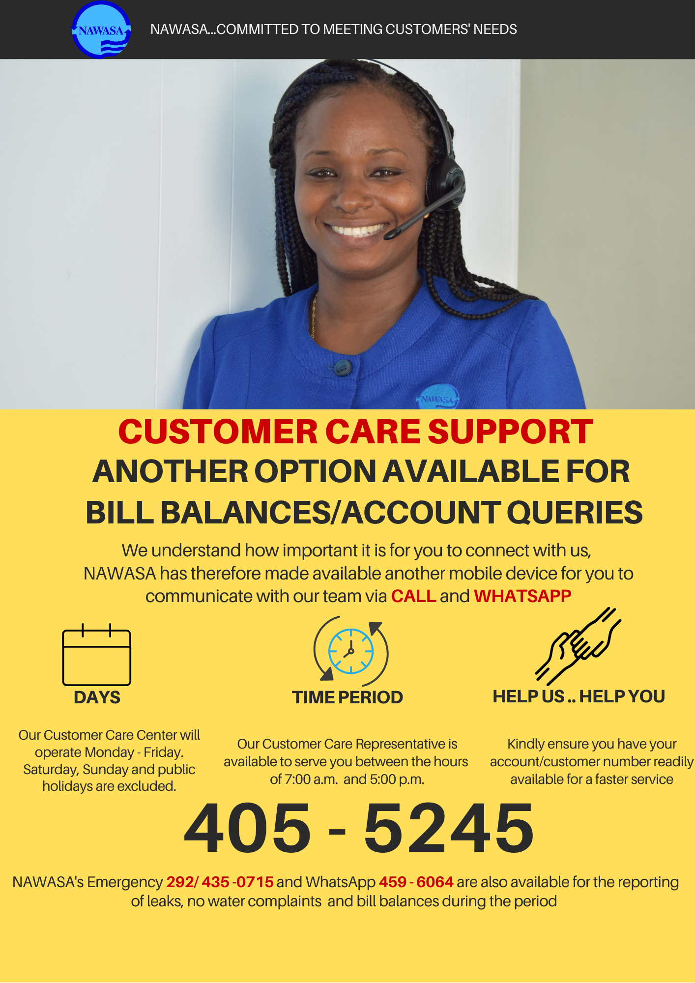Customer Care Support: Bill Queries Options