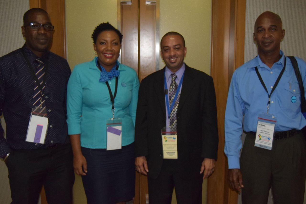 NAWASA's Communications Supervisor conference presenter at the 26th Annual CWWA's Conference and Exhibition in Guyana.
