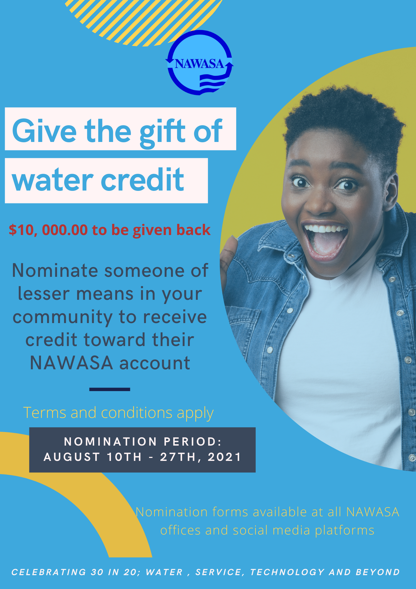 Give the gift of water credit